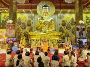 ผอ.สำนักงานพระพุทธศาสนาแห่งชาติกราบนมัสการสักการะขอพรปีใหม่เจ้าอาวาสวัดไผ่ล้อม